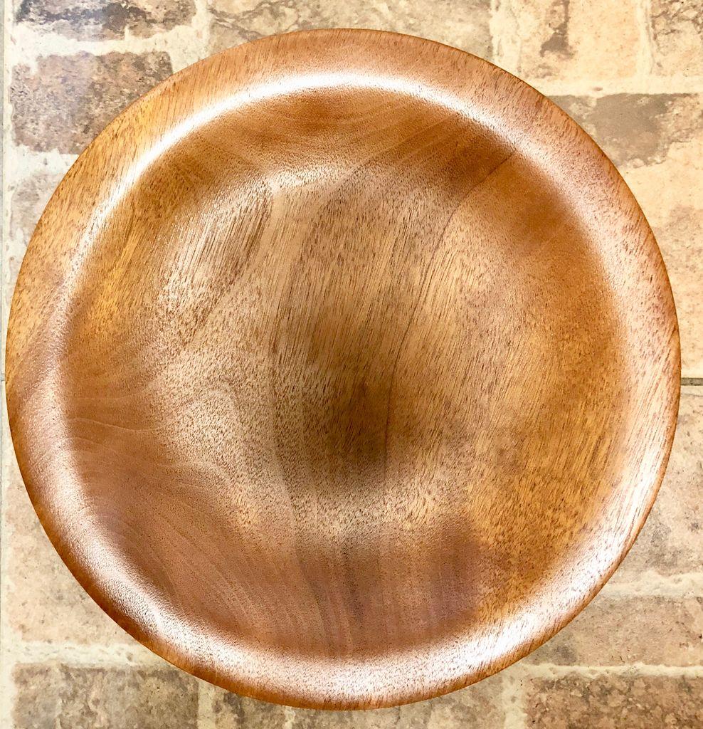 """David L. Jones Platter (Mahogany, 1.5""""H x 15.25""""D)"""