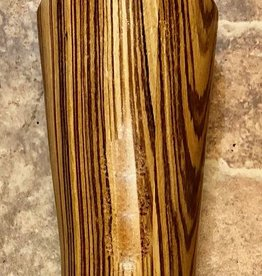 "David L. Jones Vase (Zebrawood, 9""H x 3""D)"