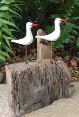 Molly Potter Thayer Skimmers (White, Red-Beaked, 2, #1812)