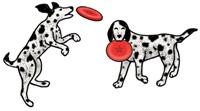 Rare Earth Gallery Earrings, Dog & Frisbee