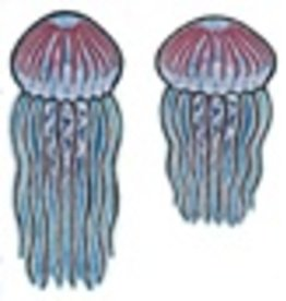 Rare Earth Gallery Earrings, Jellyfish, Sea Nettle