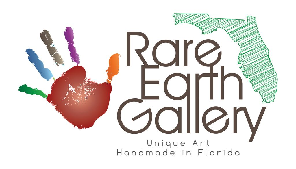 "Rare Earth Gallery MARY (18"" MINIMAL, EnergyWeb w/ Half-Moon Stand)"