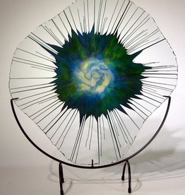 "Rare Earth Gallery TROPICAL BREEZE (18"" MINIMAL, EnergyWeb w/ Half-Moon Stand)"