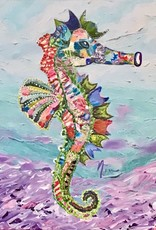 Donna Rydberg Sea Horse, Simone (Original, Digital, Acrylic on Canvas, 20x16)
