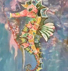 Donna Rydberg Sea Horse, Sammy (Original, Digital, Acrylic on Canvas, 20x16)