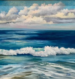 Carol Kepp Surf's Up (Original Oil, 16x20, Framed, Signed)