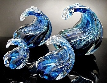 Rare Earth Gallery Paperweight, Wave (Lg)
