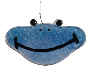 "Rare Earth Gallery Happy Frog (Suncatcher, 2""x3.5"")"