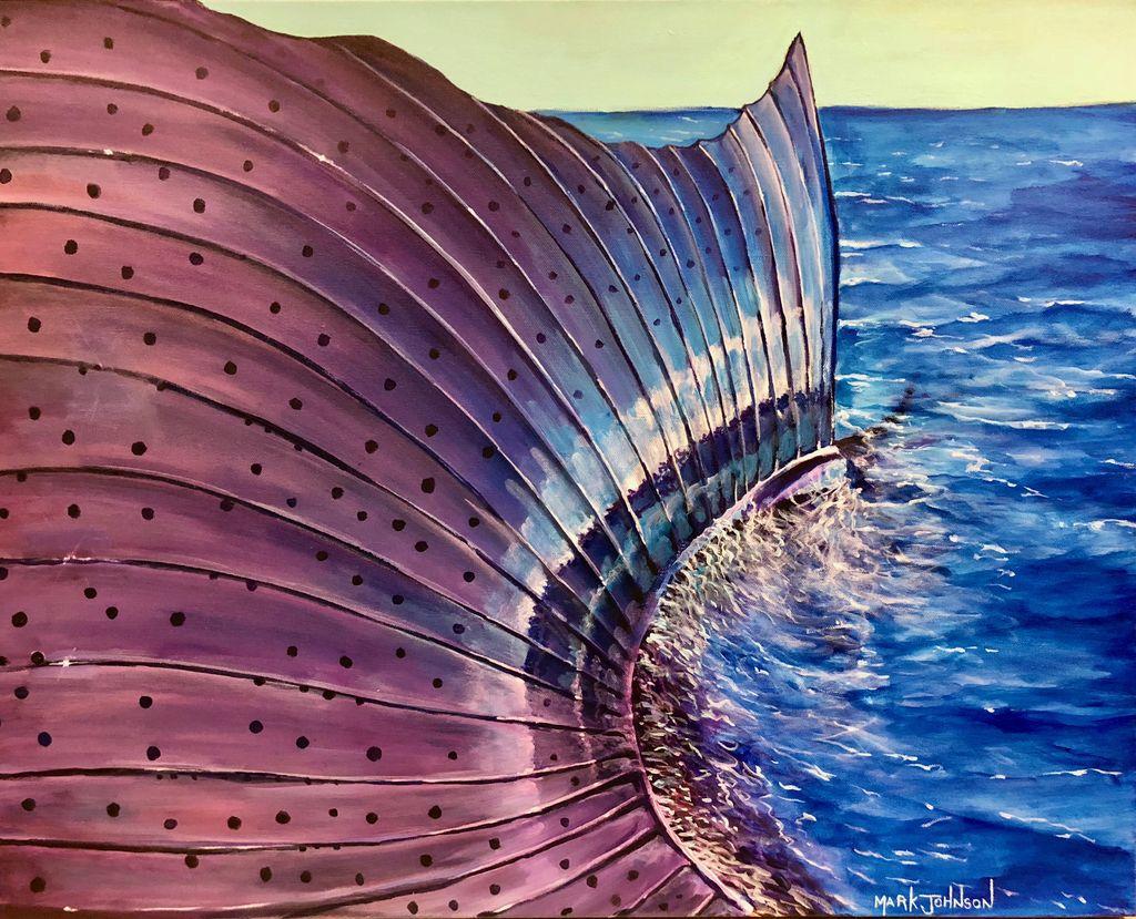 Mark Johnson Sails Up (Original Oil, 24x30)