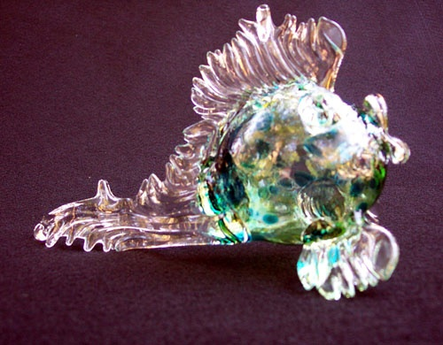 Rare earth gallery fish hand blown glass rare earth for Anchor jewelry stuart fl