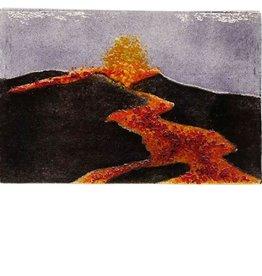 "Rare Earth Gallery Lava Flow/Volcano (Suncatcher, 4""x6"")"