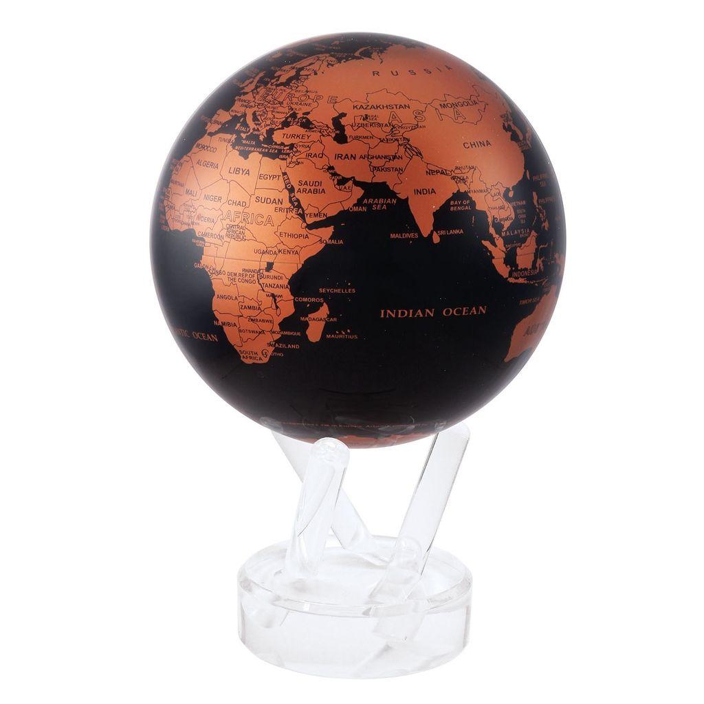 """Rare Earth Gallery Black and Copper (MOVA GLOBE 4.5"""")"""