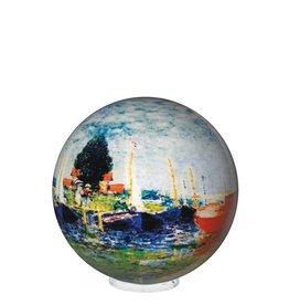"Rare Earth Gallery Monet Red Boats (MOVA GLOBE 4"")"