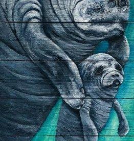 "Rare Earth Gallery Puppy Love (Original Acrylic on Board, Signed) 36""L x 12W"