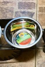 "Rare Earth Gallery Junkyard Dog, Dachshund, Double 6"" Bowls"