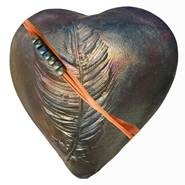 Rare Earth Gallery innerSpirit Rattle: Dancing Feather (Heart)