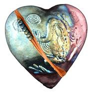 Rare Earth Gallery innerSpirit Rattle: Frog (Heart)