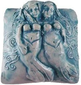 Rare Earth Gallery innerSpirit Rattle: Mermaid, Sisters (Square)