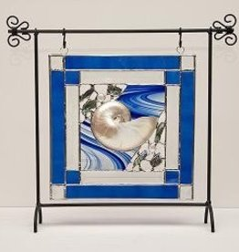 "Rare Earth Gallery Nature's Glory Panel (Cobalt w/Stand, 10"")"