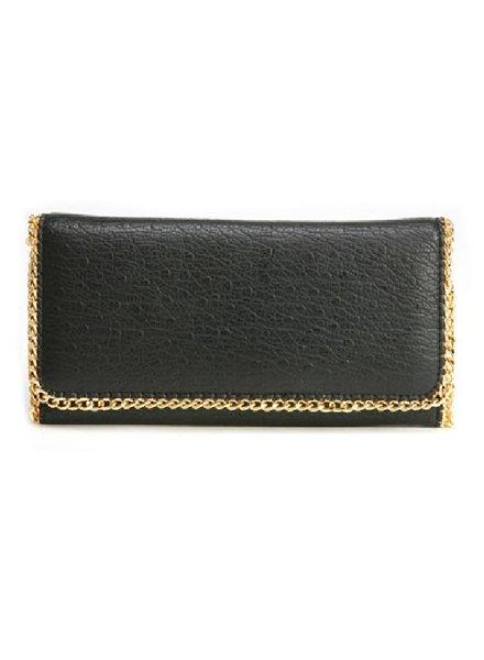 Deux Lux Mercer Flap Wallet Black