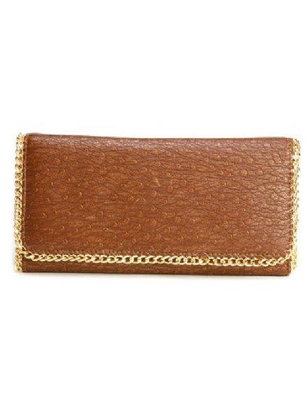 Deux Lux Mercer Flap Wallet Walnut