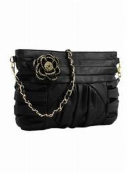 Melie Bianco Melie Bianco Alice Zipper Flower Clutch