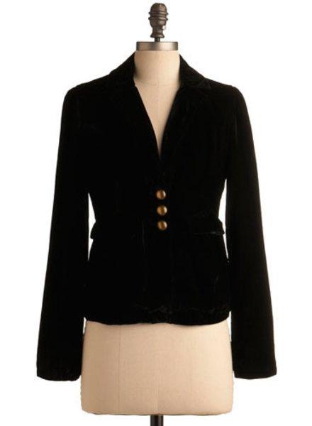 Tulle Tulle Velvet Blazer in Black