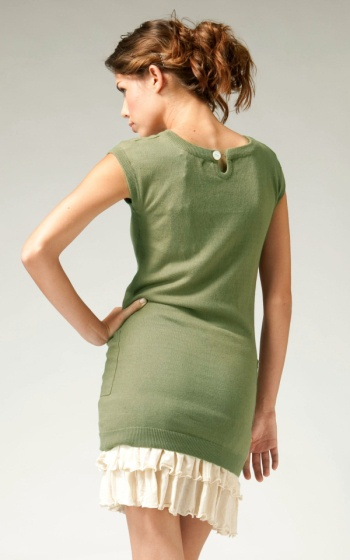 Tulle Tulle Sleeveless Tunic with pockets