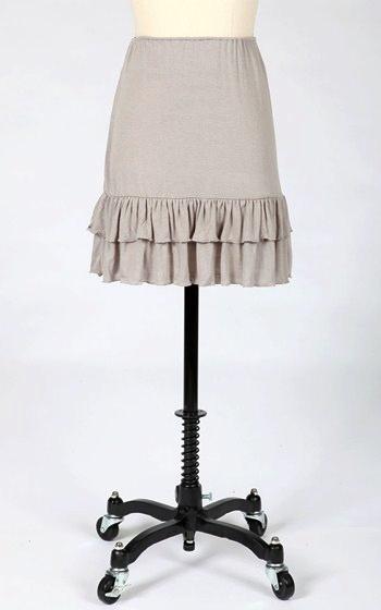 Tulle Tulle jersey layering skirt