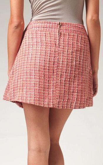 Tulle Tulle Pleated tweed skirt