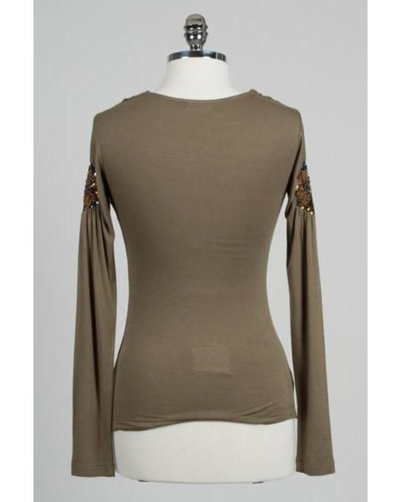Hazel Hazel long sleeve draped shirt