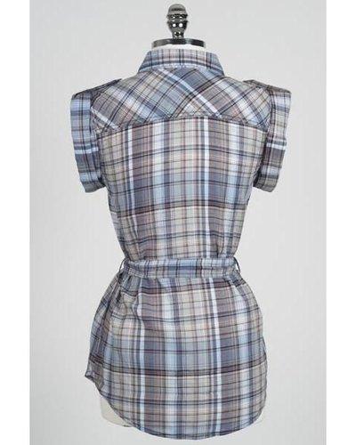 Hazel Hazel Button-up Plaid Shirt with Pockets