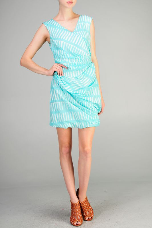 Aryn K Aryn K gathered spring dress