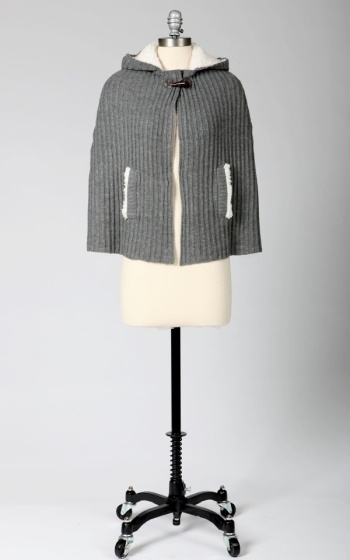 Tulle Tulle Caplet with Shearling