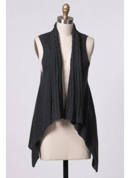 Hazel Hazel Knitted Draped Vest