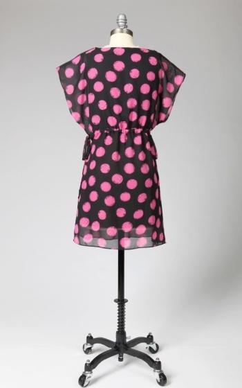 Tulle Tulle Short Sleeve Dress with Waist Tie