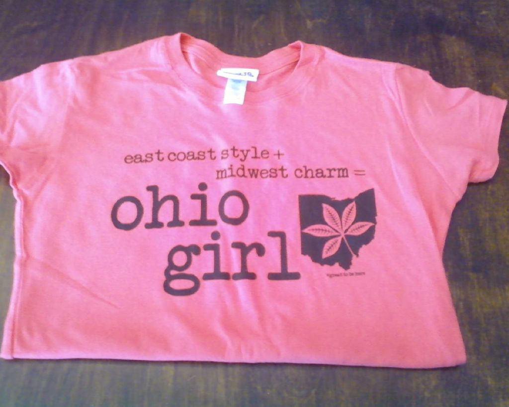 Great to Be Here Tees Ohio Girl Tee in Watermelon with Black Ink