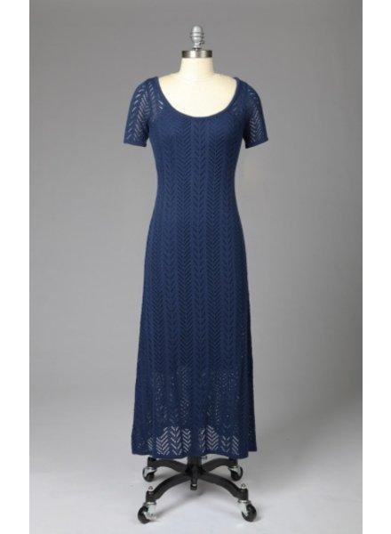 Tulle Tulle Short Sleeve Maxi Dress