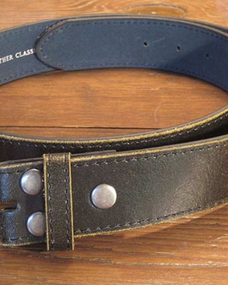 Starr Luna Starr Luna Distressed Black Belt Strap (Strap only, no buckle)