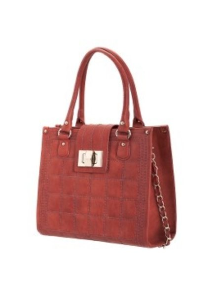 Melie Bianco Melie Bianco Sienna Kate Quilted Chain Tote with Turn Lock Flap