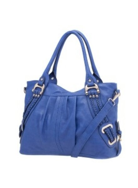 Melie Bianco Melie Bianco Blue Emma Braided Trim Shoulder Bag