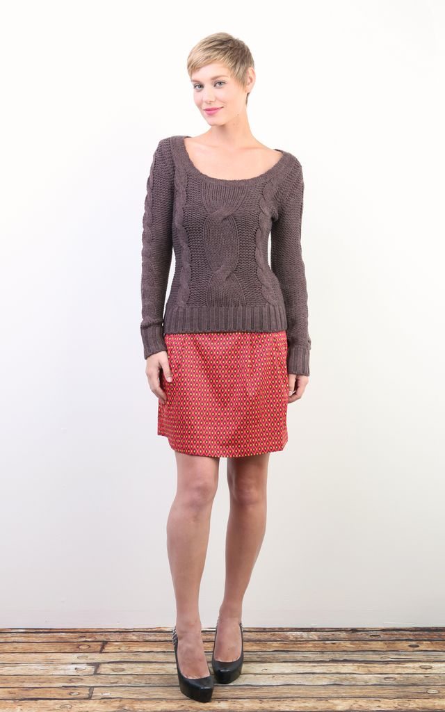 Tulle Tulle long Sleeve Sweater, Cocoa, sale item, Was $70