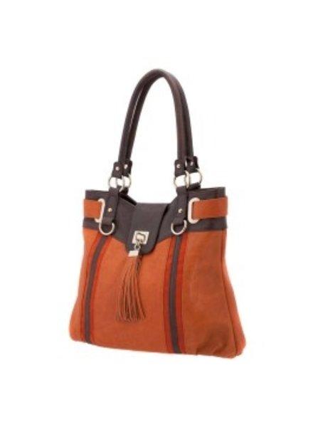 Melie Bianco Melie Bianco Pumpkin Tess Striped Tassel Bag