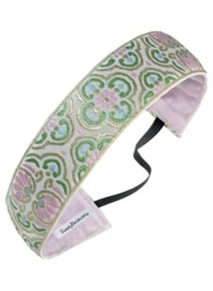 Sweaty Bands Sweaty Bands Vintage Flow Thick- Cream, Pink, Green, & Gold