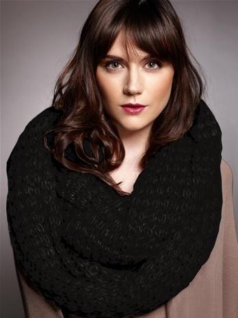Paula Bianco Paula Bianco Chunky Knit Infinity  Scarf - Black