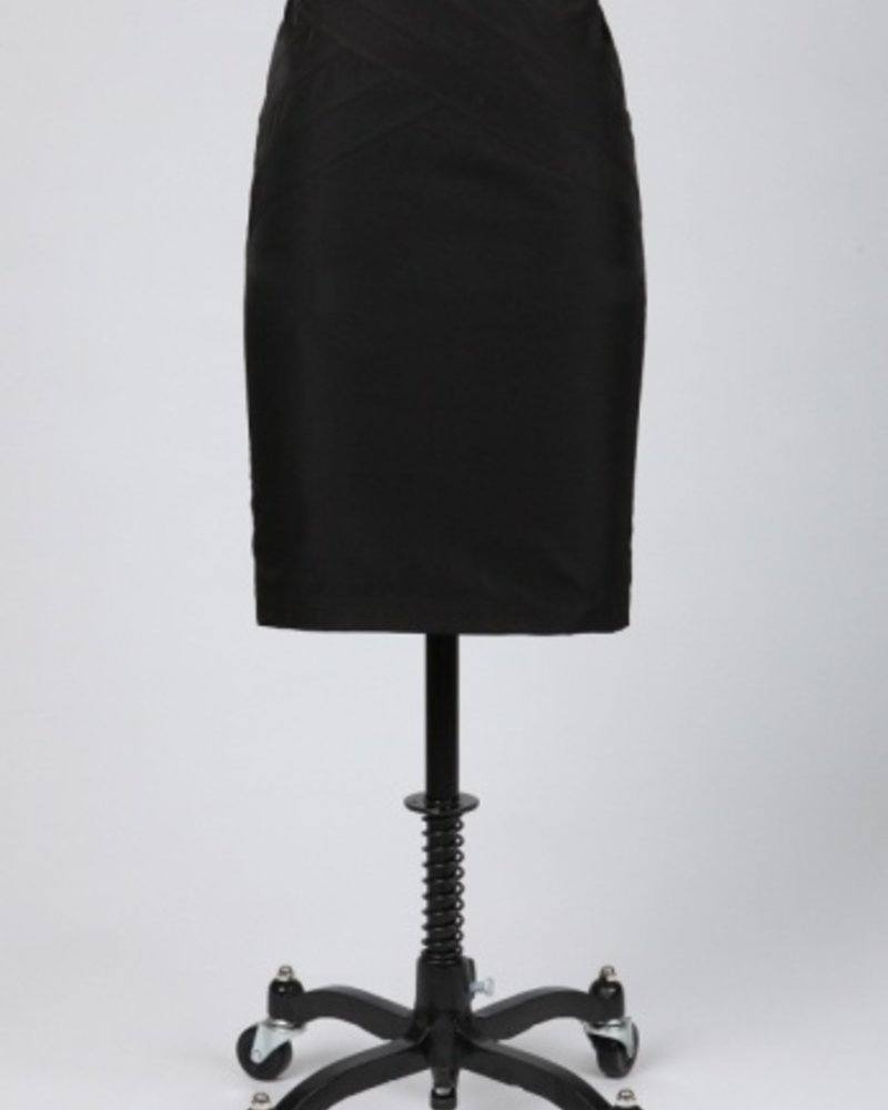 Tulle Tulle Pintuck Pencil Skirt