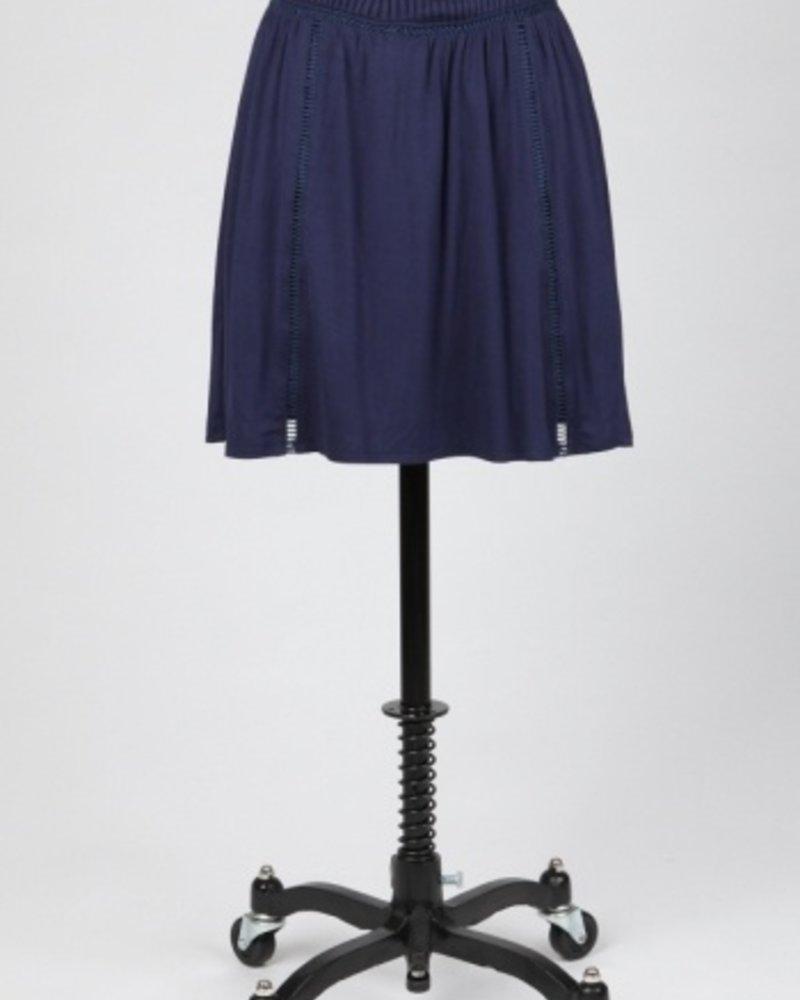 Tulle Mid Thigh Pintuck Waist Skirt