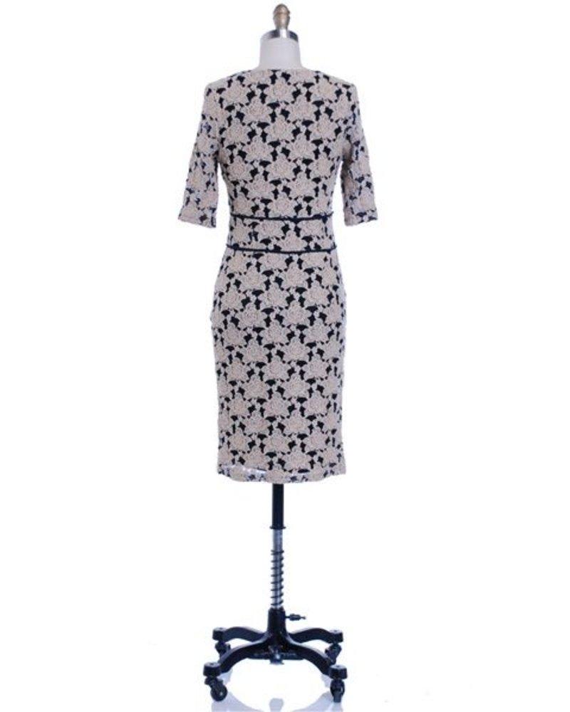 Hazel Hazel 3/4 sleeve lace dress