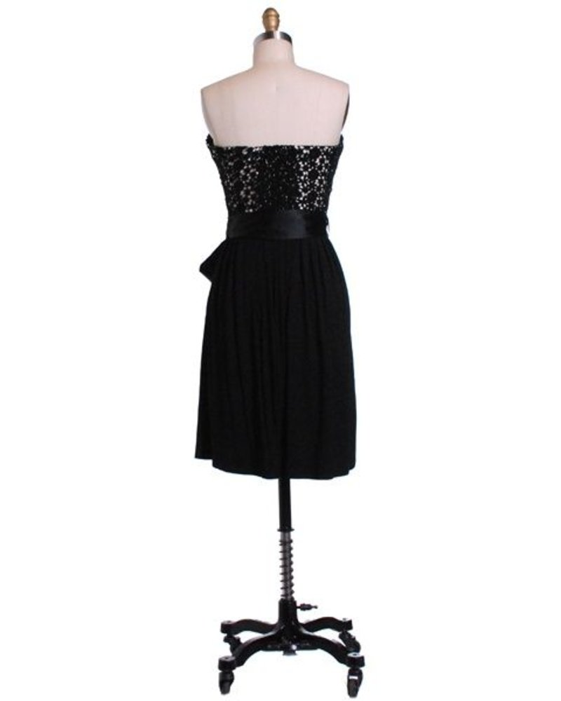 Hazel Hazel Lace Bustier Dress with tie