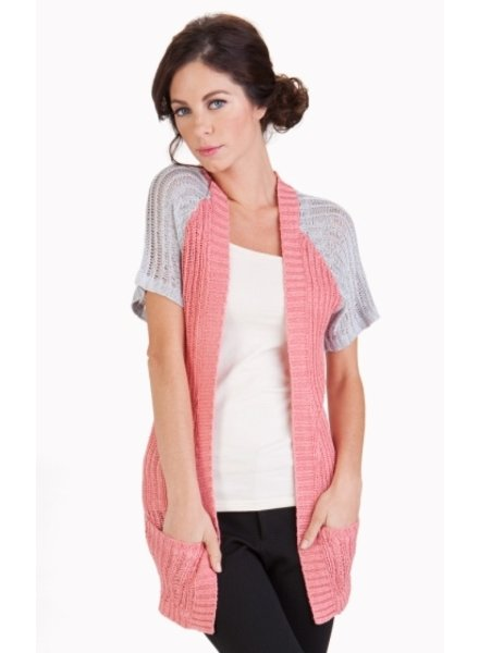Tulle Short Sleeve Cardigan<br />